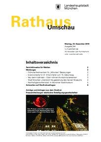 Rathaus Umschau 244 / 2019