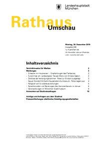 Rathaus Umschau 246 / 2019
