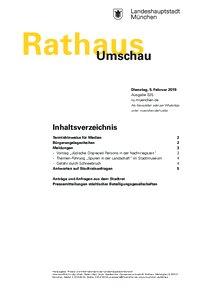 Rathaus Umschau 25 / 2019