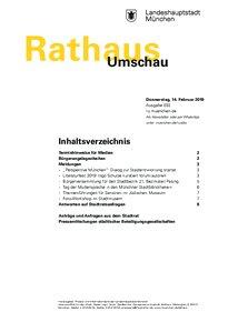 Rathaus Umschau 32 / 2019