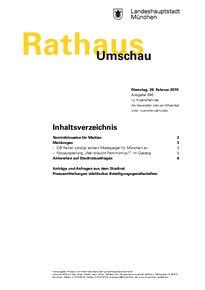 Rathaus Umschau 40 / 2019