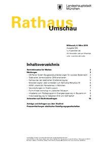 Rathaus Umschau 45 / 2019