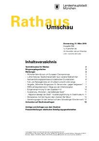 Rathaus Umschau 56 / 2019