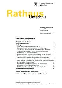 Rathaus Umschau 60 / 2019