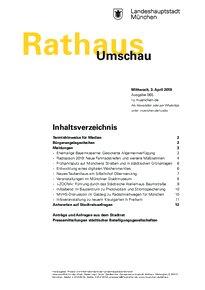 Rathaus Umschau 65 / 2019