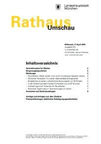 Rathaus Umschau 75 / 2019