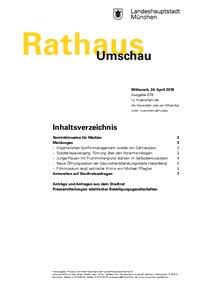 Rathaus Umschau 78 / 2019
