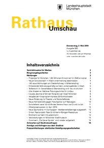 Rathaus Umschau 83 / 2019