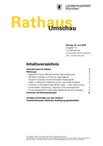 Rathaus Umschau 115 / 2020