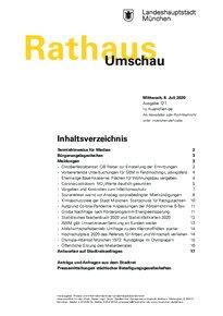 Rathaus Umschau 127 / 2020