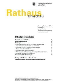 Rathaus Umschau 13 / 2020