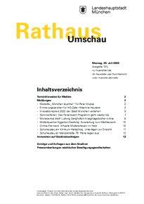 Rathaus Umschau 135 / 2020