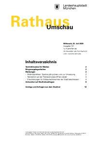Rathaus Umschau 137 / 2020