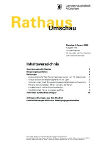 Rathaus Umschau 146 / 2020