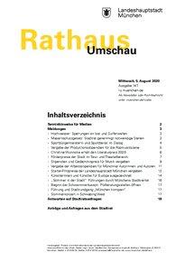 Rathaus Umschau 147 / 2020