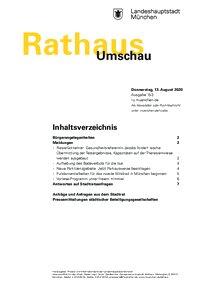 Rathaus Umschau 153 / 2020