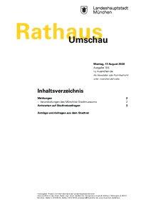 Rathaus Umschau 155 / 2020