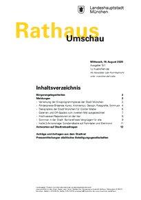 Rathaus Umschau 157 / 2020