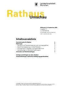 Rathaus Umschau 177 / 2020