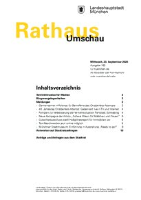 Rathaus Umschau 182 / 2020