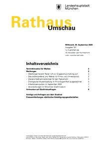 Rathaus Umschau 187 / 2020