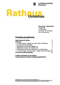 Rathaus Umschau 188 / 2020