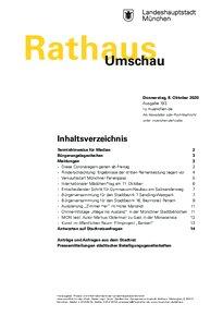 Rathaus Umschau 193 / 2020