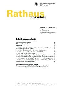 Rathaus Umschau 196 / 2020