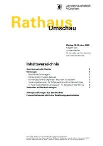 Rathaus Umschau 200 / 2020