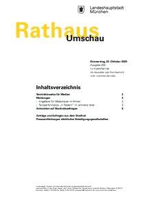 Rathaus Umschau 203 / 2020