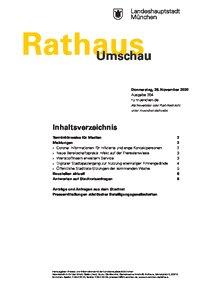 Rathaus Umschau 204 / 2020