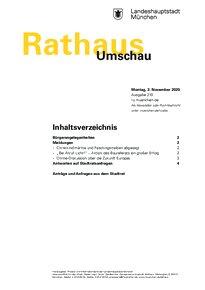 Rathaus Umschau 210 / 2020
