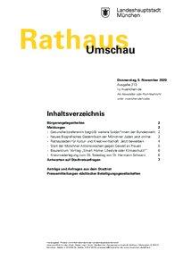 Rathaus Umschau 213 / 2020