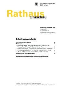 Rathaus Umschau 215 / 2020