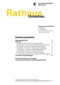 Rathaus Umschau 216 / 2020