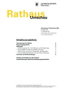 Rathaus Umschau 218 / 2020