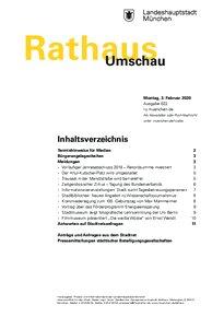 Rathaus Umschau 22 / 2020
