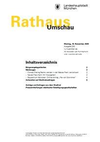 Rathaus Umschau 220 / 2020