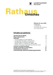 Rathaus Umschau 225 / 2020