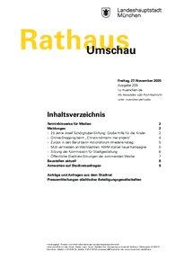 Rathaus Umschau 229 / 2020