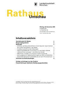 Rathaus Umschau 230 / 2020