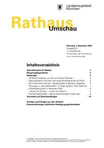 Rathaus Umschau 231 / 2020