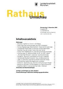 Rathaus Umschau 233 / 2020