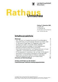 Rathaus Umschau 239 / 2020