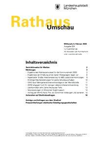Rathaus Umschau 24 / 2020