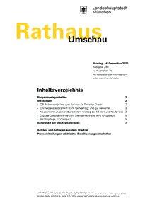 Rathaus Umschau 240 / 2020