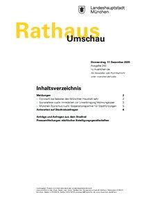 Rathaus Umschau 243 / 2020