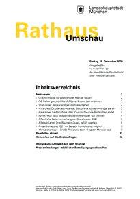 Rathaus Umschau 244 / 2020