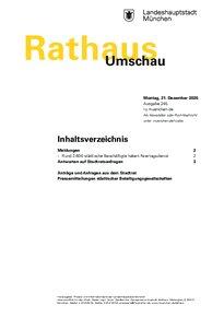 Rathaus Umschau 245 / 2020