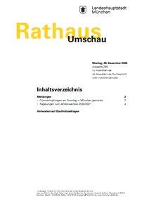 Rathaus Umschau 248 / 2020